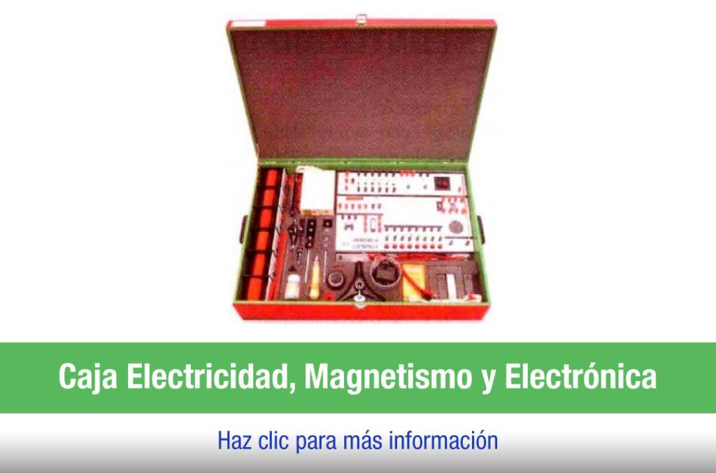 Caja laboratorio electricidad, magnetismo y electrónica